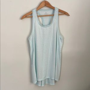 Athleta speed light tank top size small light blue